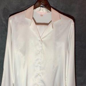 White Victoria's Secret Pajama Set Size Medium